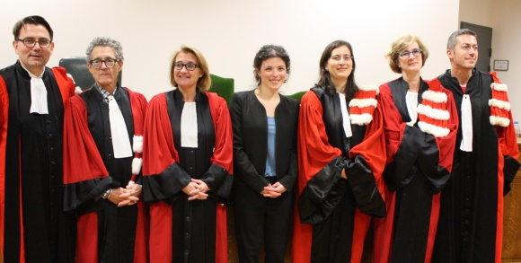 Hélène Gorge and her doctoral committee in December 2014